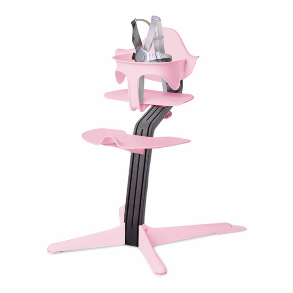 Nomi Highchair Pink in Black Oak