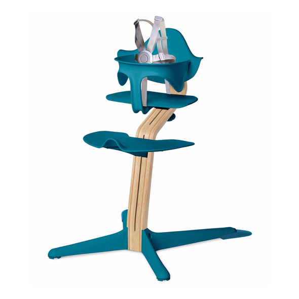 Nomi Highchair Ocean in White Oak