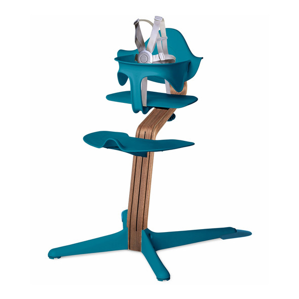 Nomi Highchair Ocean in Walnut