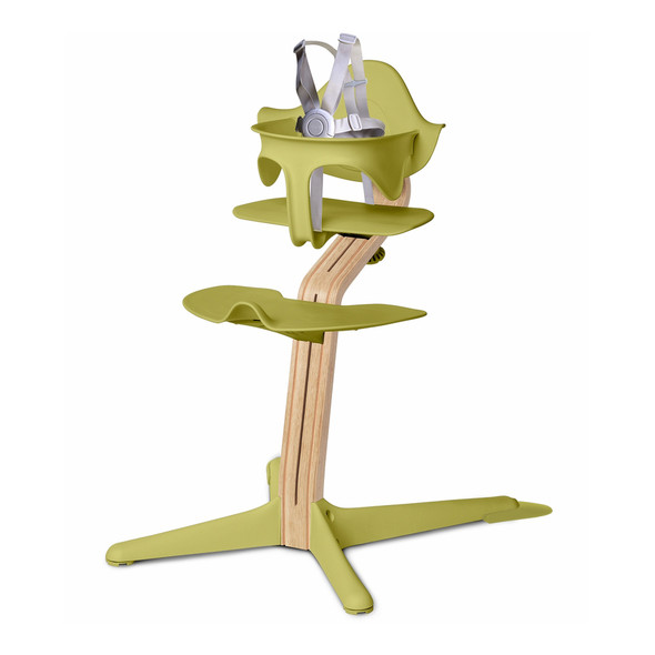 Nomi Highchair Lime in White Oak
