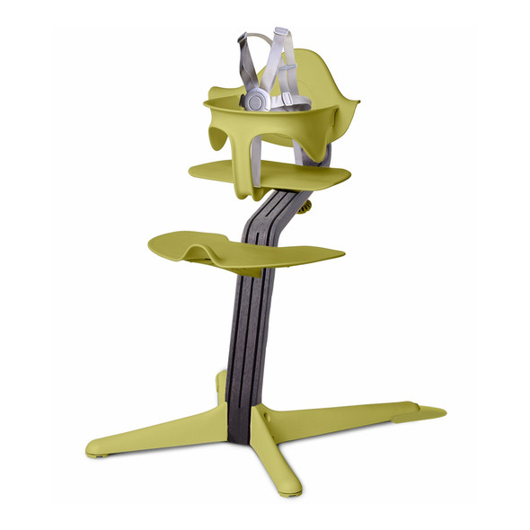 Nomi Highchair Lime in Black Oak