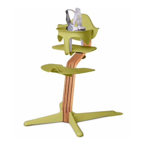 Nomi Highchair Lime in Natural Oak