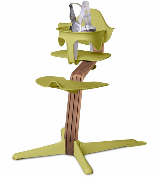 Nomi Highchair Lime in Walnut