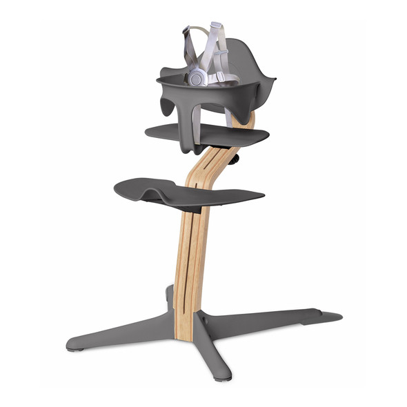 Nomi Highchair Gray in White Oak