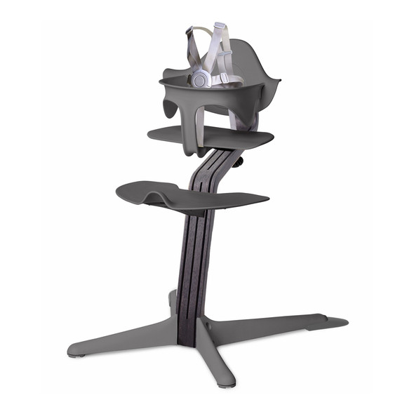 Nomi Highchair Gray in Black Oak