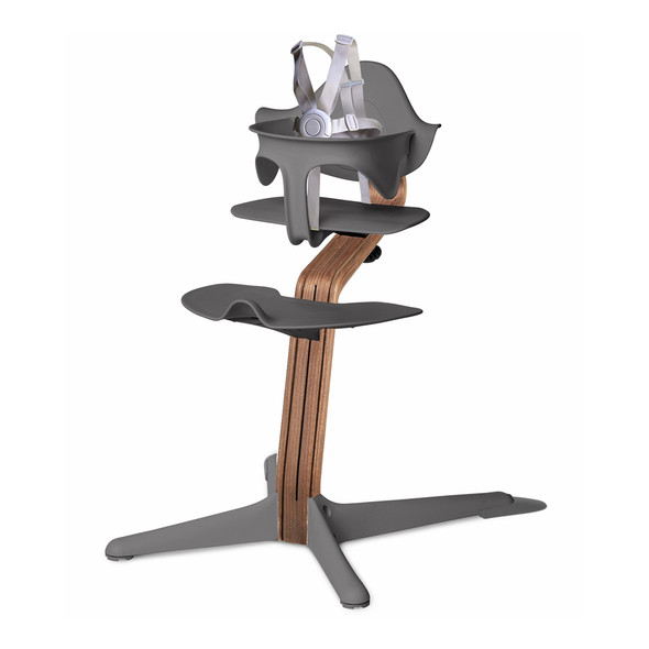 Nomi Highchair Gray in Walnut
