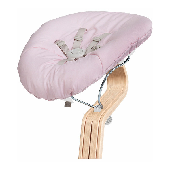 Nomi Baby Base 2.0 in White with Pink Cushion