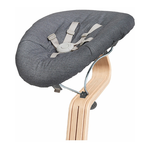 Nomi Baby Base 2.0 in Gray with Gray Cushion