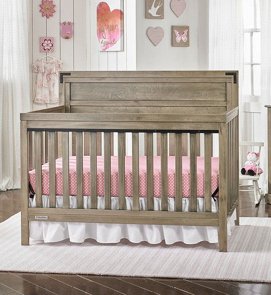 Fisher Price Paxton Convertible Crib in Rustic Brown