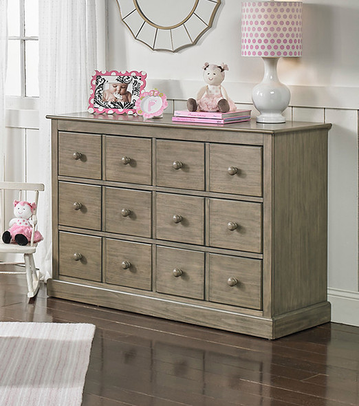 Fisher Price Signature RTA Double Dresser in Rustic Brown