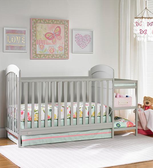 Ti Amo Modesto CNC Crib N Changer in Misty Grey