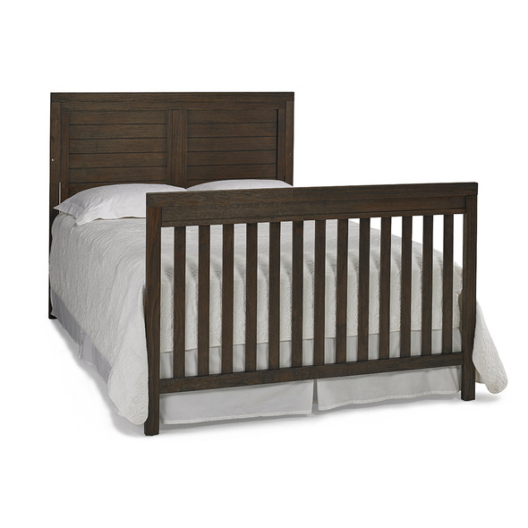 Ti Amo Castello Twin Bed w/bed rails in Weathered Brown