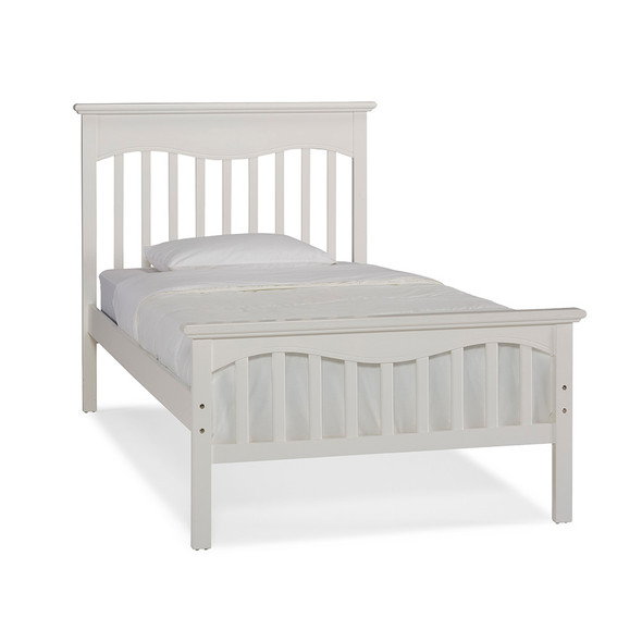 Ti Amo Lena Teen Twin Bed W/Rails in Snow White