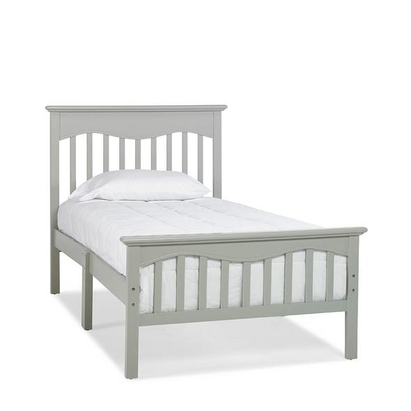 Ti Amo Lena Teen Twin Bed W/Rails in Misty Grey