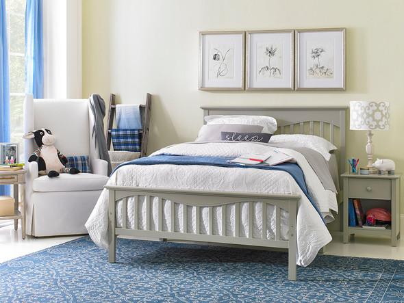 Ti Amo Lena Teen Full Bed w/bed rails in Misty Grey