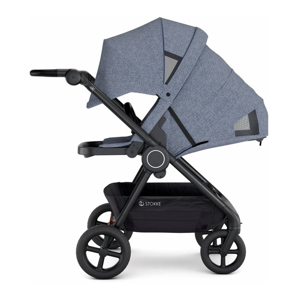 Stokke Beat Compact Urban Stroller in Blue Melange