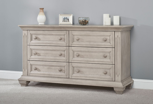 Oxford Baby Lakeville 6 Drawer Dresser in Stone Wash