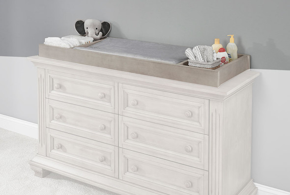 Oxford Baby Lakeville Changing Topper in Stone Wash