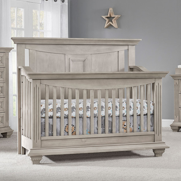 Oxford Baby Lakeville 3 Piece Nursery Set with Crib, Double Dresser, & Nightstand in Stone Wash
