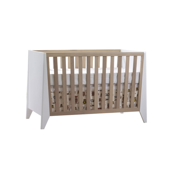 Natart Flexx Classic Crib in White/ Natural