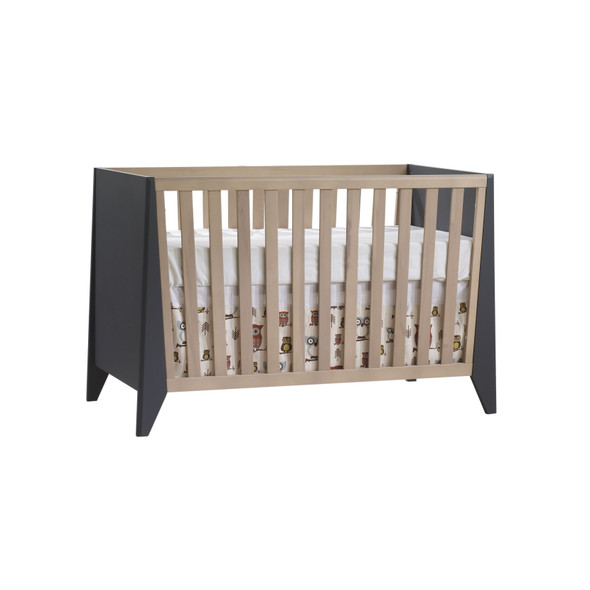 Natart Flexx Classic Crib in Graphite/Natural