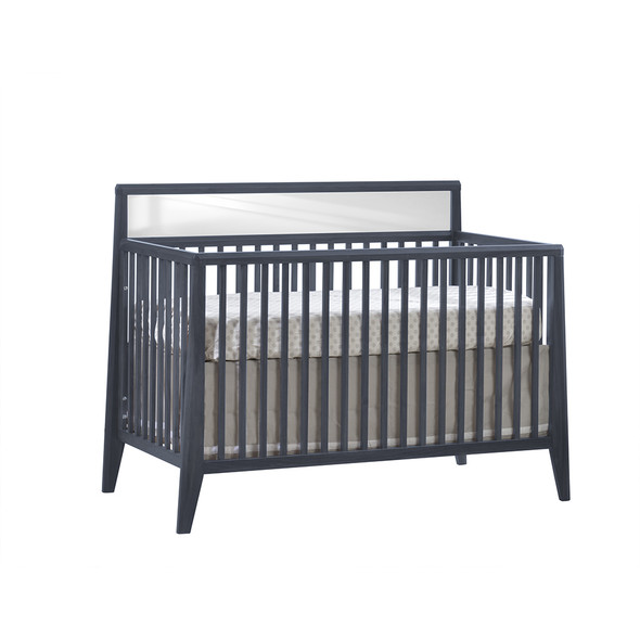 Natart Flexx Convertible Crib in Graphite