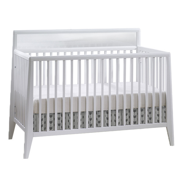 Natart Flexx 3 Piece Nursery Set - Convertible Crib in White, 3 Drawer Dresser and 5 Drawer Dresser in White/Natural