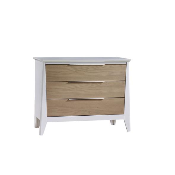 Natart Flexx 3 Drawer Dresser XL in White/ Natural