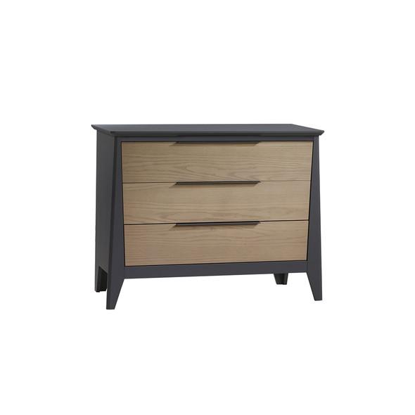 Natart Flexx 3 Drawer Dresser XL in Graphite/Natural