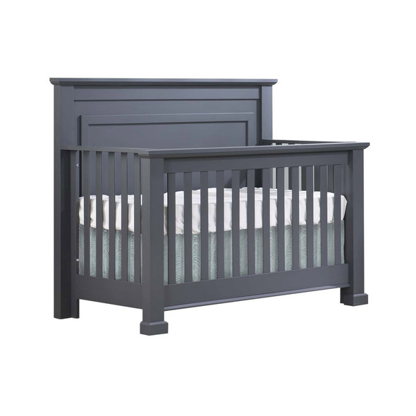 Natart Taylor 2 Piece Nursery Set - Crib and Double Dresser in Graphite