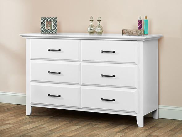 Oxford Baby Willowbrook 6 Dr  Dresser in White
