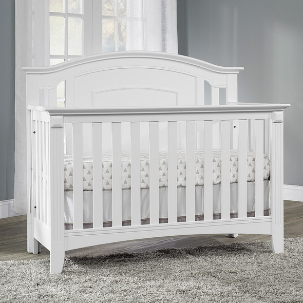 Oxford Baby Willowbrook 2 Piece Nursery Set - Crib and 6 Dr Dresser in White