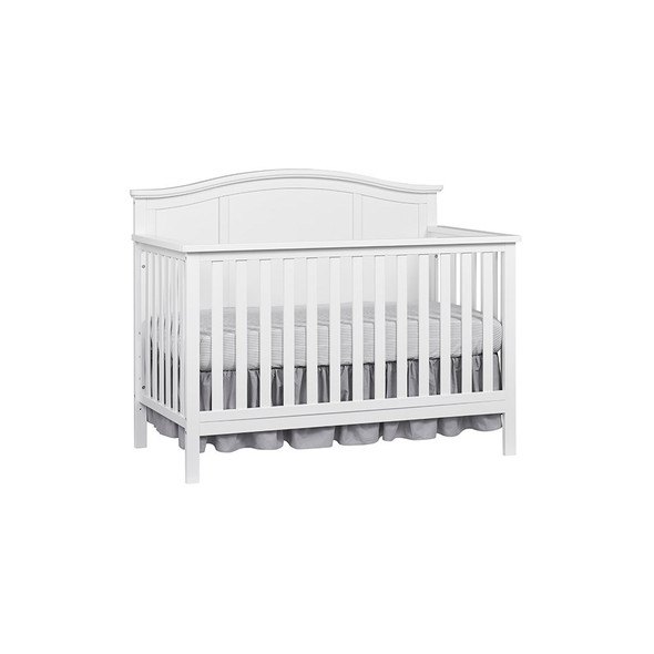 Oxford Baby Emerson 4 In 1 Convertible Crib in Snow White