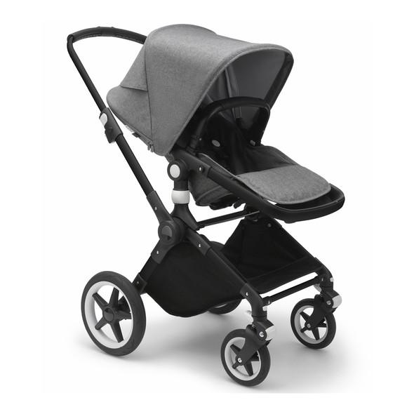 Bugaboo Lynx Complete Stroller in Black/Grey Melange-Grey Melange