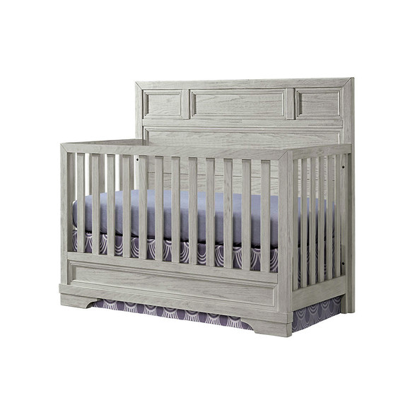 Westwood Foundry 2 Piece Nursery Set - Crib and 6 Drawer in White Dove