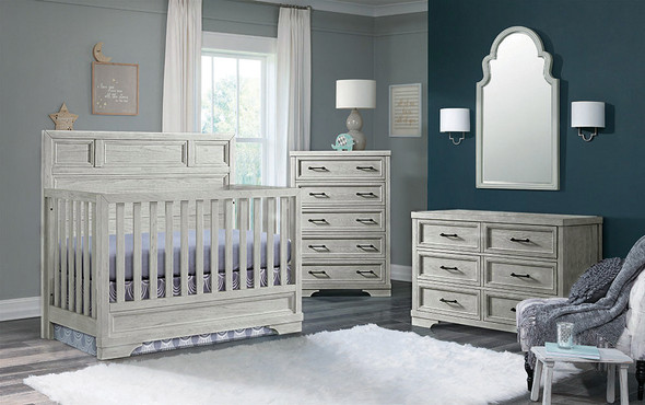 Westwood Foundry 3 Piece Nursery Set in White Dove