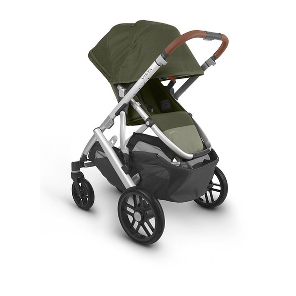 Uppa Baby Vista V2 Stroller - in Hazel (olive/silver frame/saddle leather)