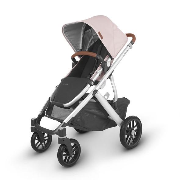 Uppa Baby Cruz V2 Stroller - in Alice (dusty pink/silver frame/saddle leather)