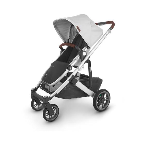 Uppa Baby Cruz V2 Stroller - in Bryce (white marl/silver frame/chestnut leather)