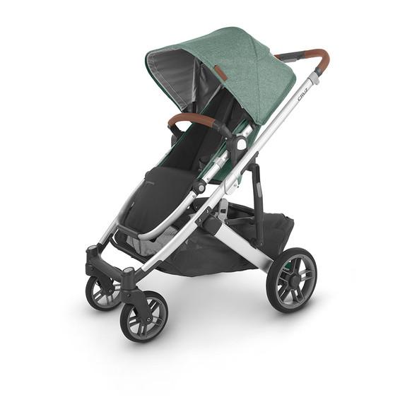 Uppa Baby Cruz V2 Stroller - in Emmett (green melange/silver frame/saddle leather)
