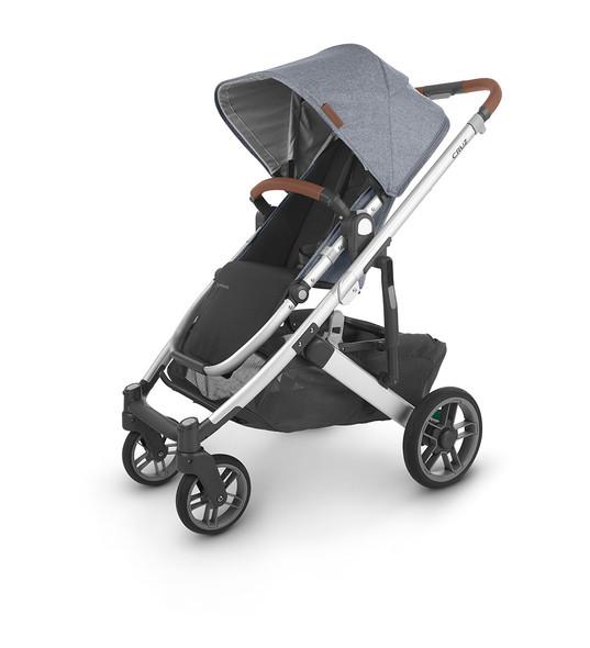 Uppa Baby Cruz V2 Stroller - in Gregory (blue melange/silver frame/saddle leather)