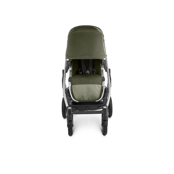 Uppa Baby Cruz V2 Stroller - in Hazel (olive/silver frame/saddle leather)