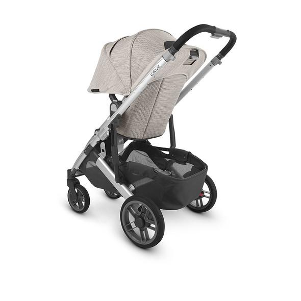 Uppa Baby Cruz V2 Stroller - in Sierra (dune knit/silver frame/black leather)