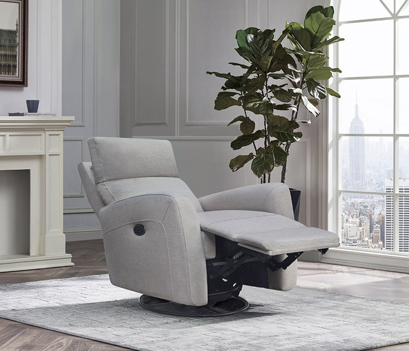 Westwood Jordan Glider - Triple Power - Lumbar - Headrest- Recline with USB in Fog