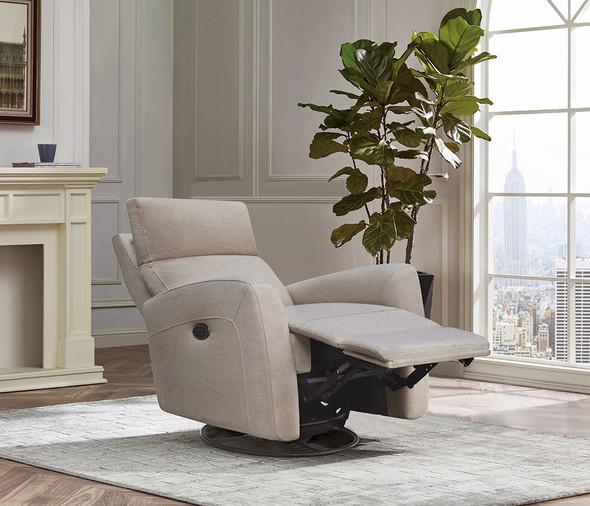 Westwood Jordan Glider - Triple Power - Lumbar - Headrest- Recline with USB in Camel