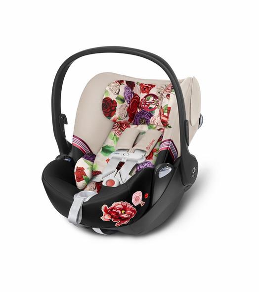 Cybex Cloud Q incl. Sensorsafe Infant Car Seat 2.1 incl. Load Leg Base Spring Blossom Light in Light Beige