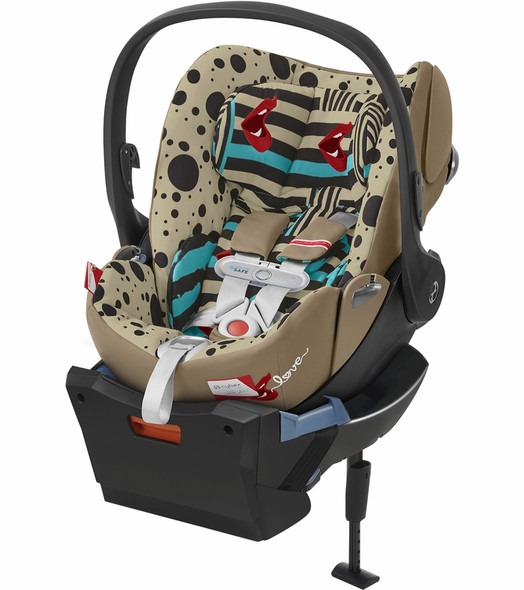 Cybex Cloud Q Plus incl. Sensorsafe Infant Car Seat 2.1 incl. Load Leg Base One Love in Multicolor