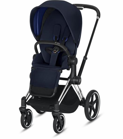 Cybex Epriam Chrome/Black Frame + indigo Blue Seat