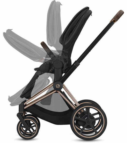 Cybex Epriam Chrome/Black Frame + Manhattan Grey Seat