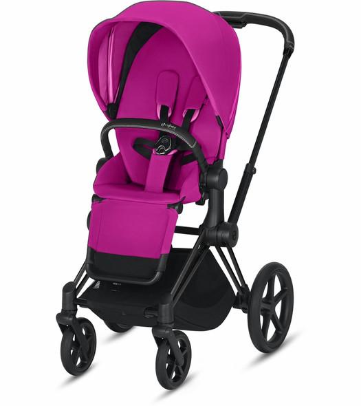 Cybex Epriam Matte Black Frame + Fancy Pink Seat